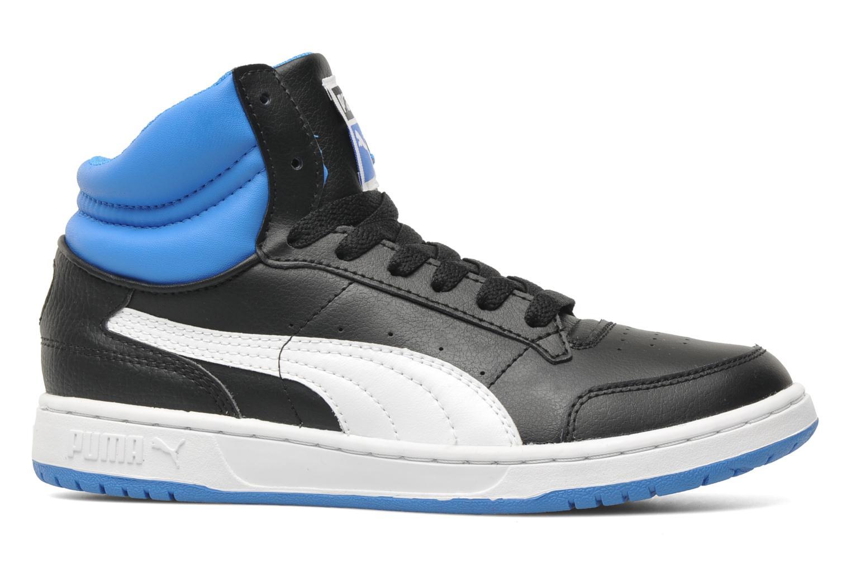 Full court Hi Jr Black-fluo blue-white