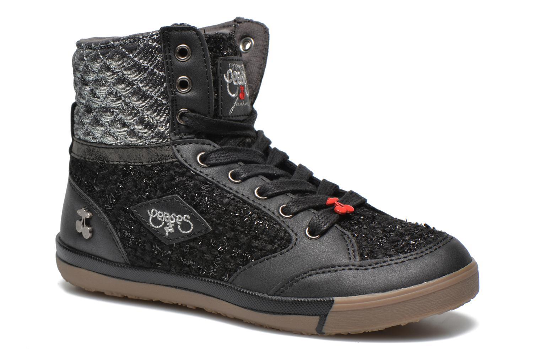 Sneakers Le temps des cerises Heritage E Zwart detail