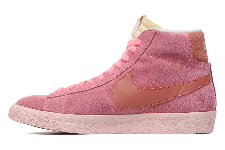 Baskets Nike Wmns Blazer Mid Suede Vintage Rose vue face
