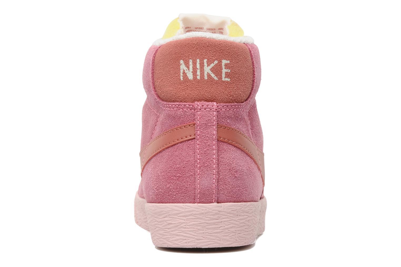 Baskets Nike Wmns Blazer Mid Suede Vintage Rose vue droite
