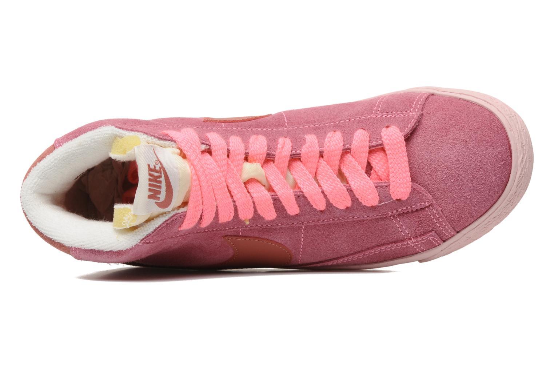 Baskets Nike Wmns Blazer Mid Suede Vintage Rose vue gauche