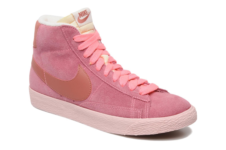 Baskets Nike Wmns Blazer Mid Suede Vintage Rose vue détail/paire