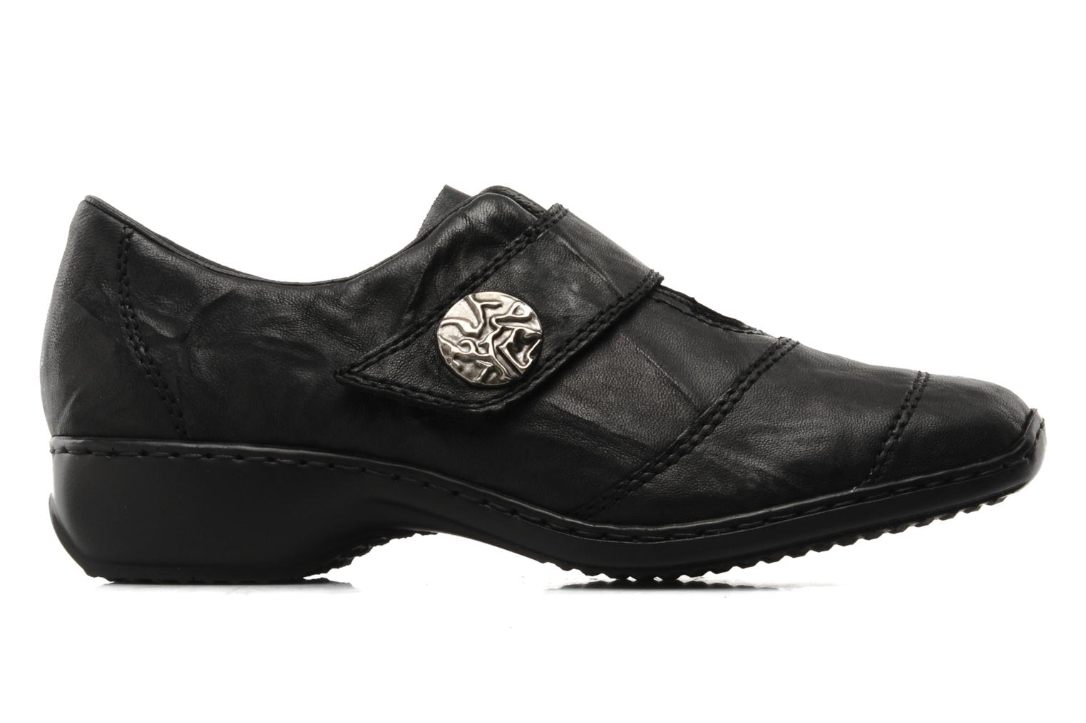 Loafers Rieker Dips L3871 Black back view