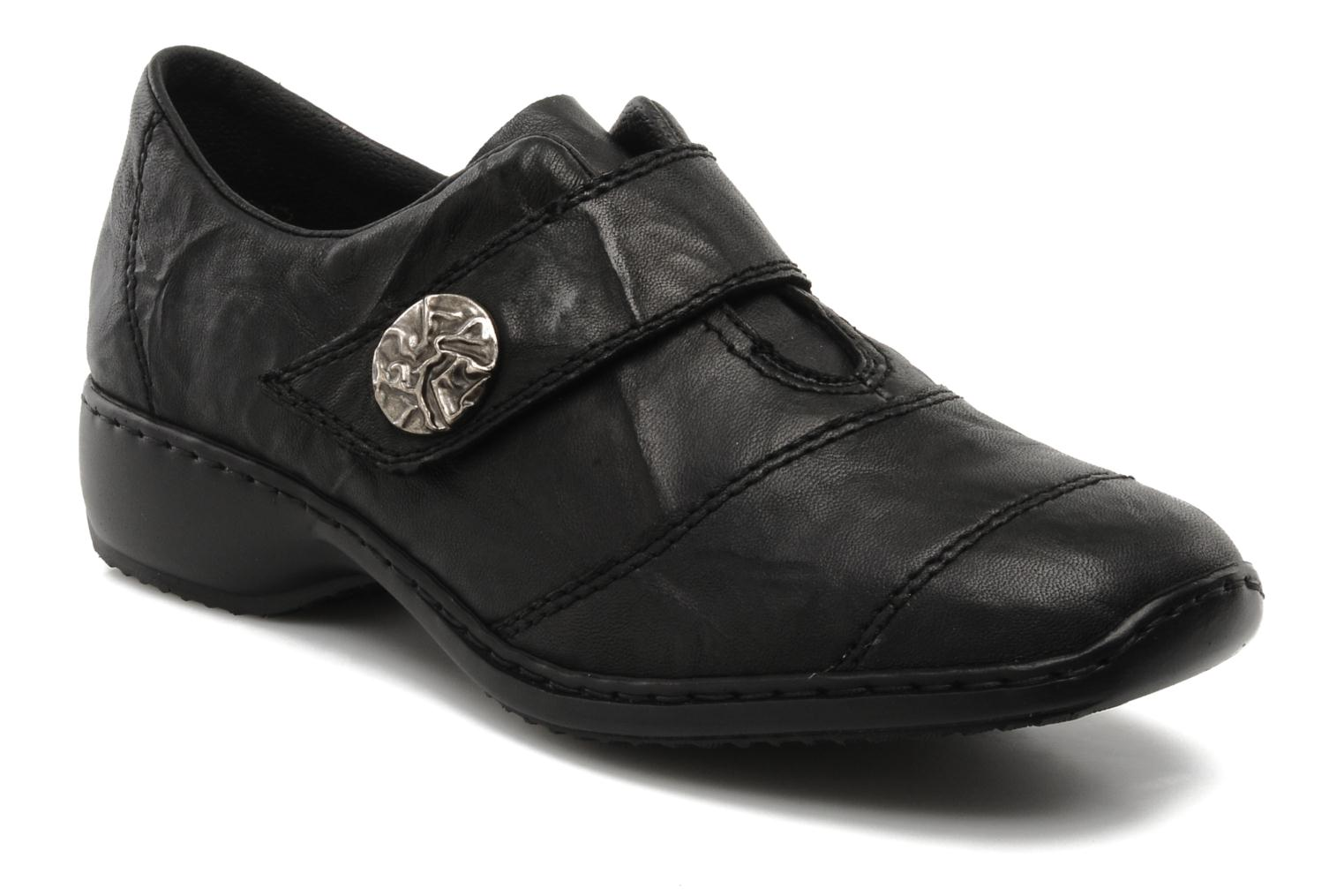 Loafers Rieker Dips L3871 Black detailed view/ Pair view