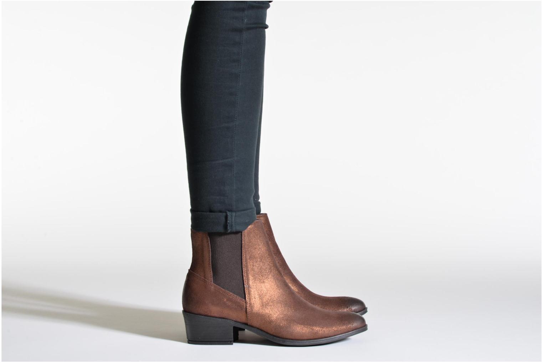 Bottines et boots Pieces Becca Noir vue bas / vue portée sac