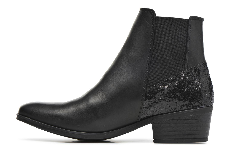 Bottines et boots Pieces Becca Noir vue face