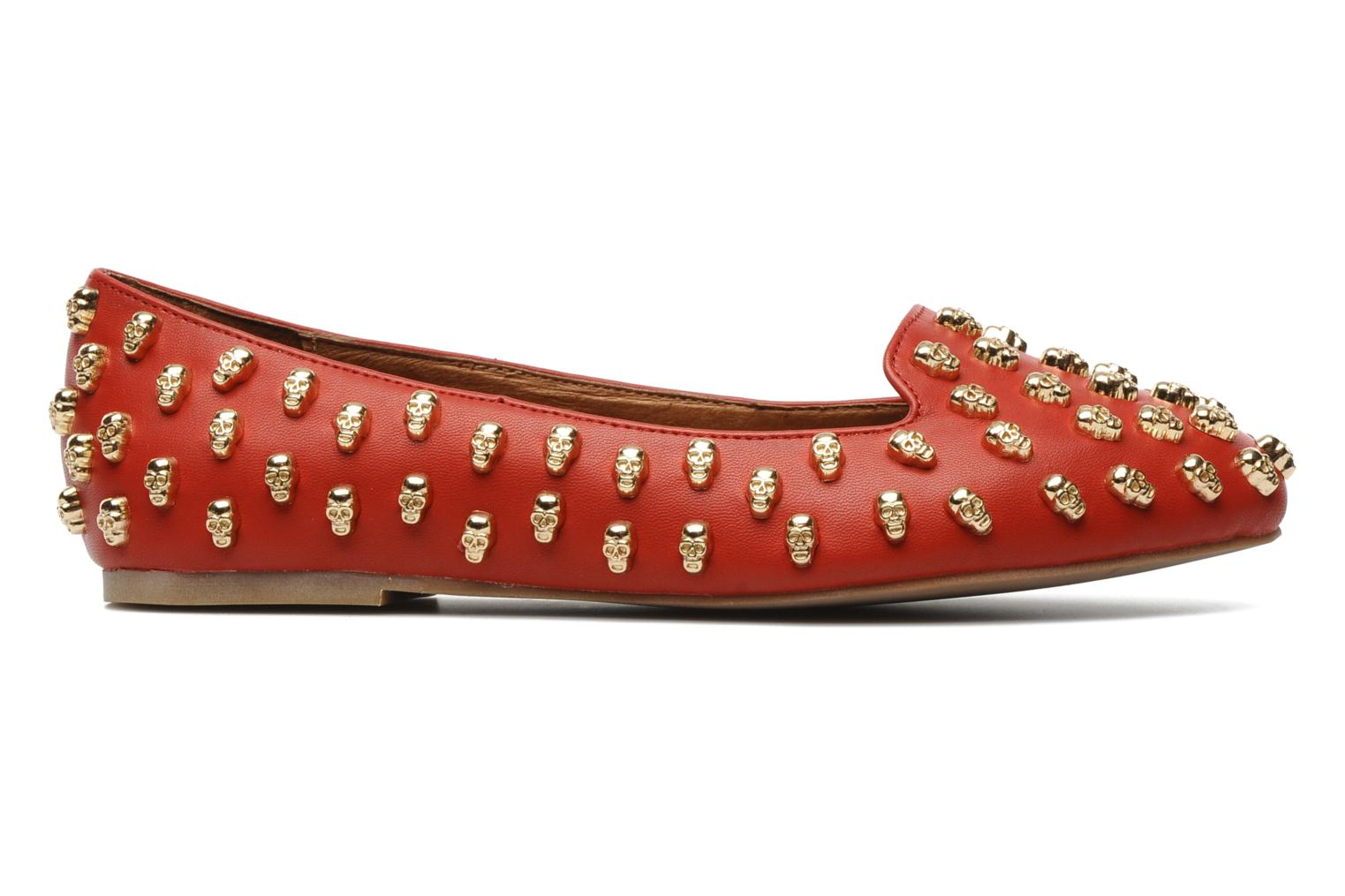 Loafers Jeffrey Campbell Skulltini Red back view