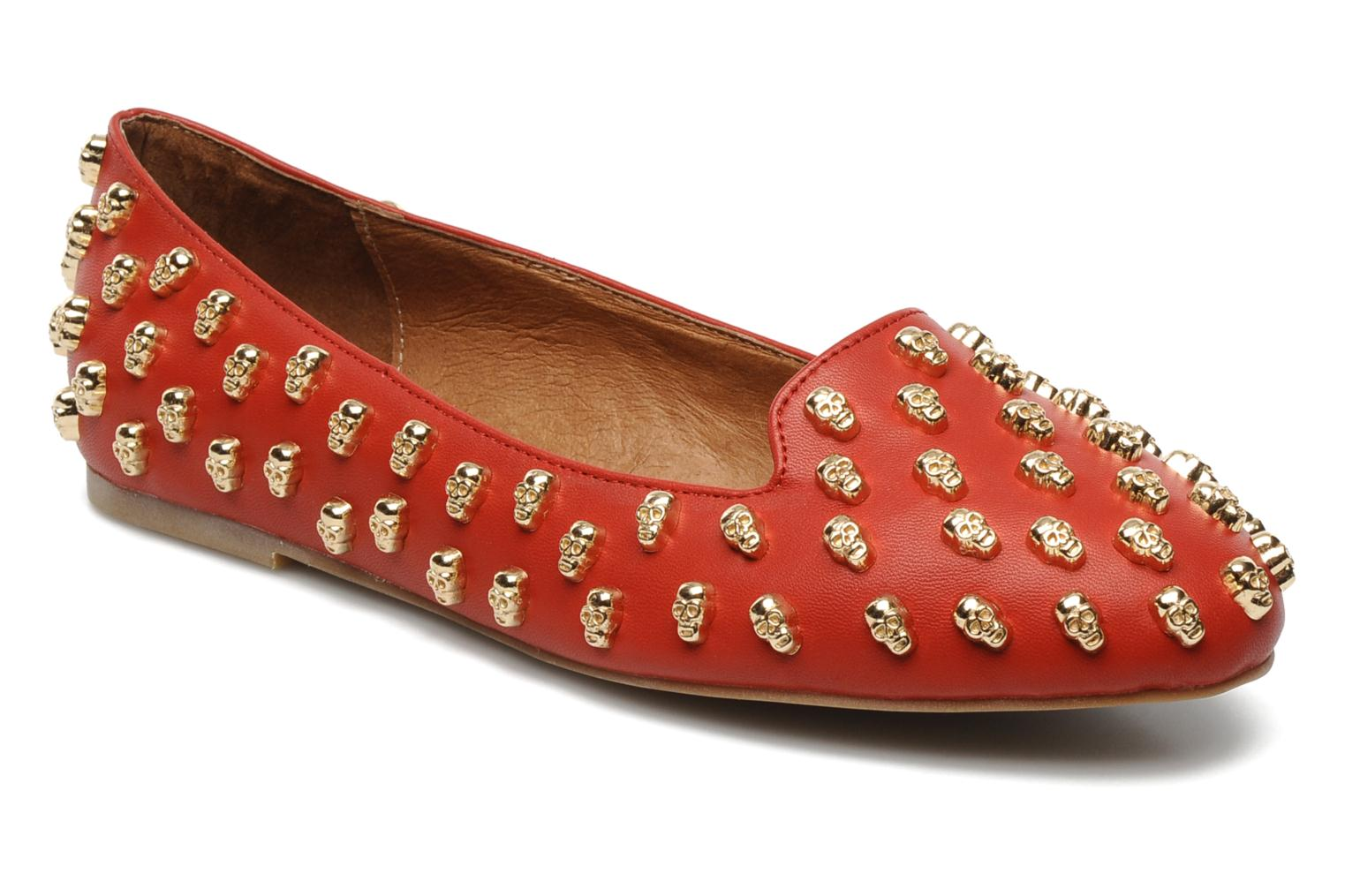 Loafers Jeffrey Campbell Skulltini Red detailed view/ Pair view