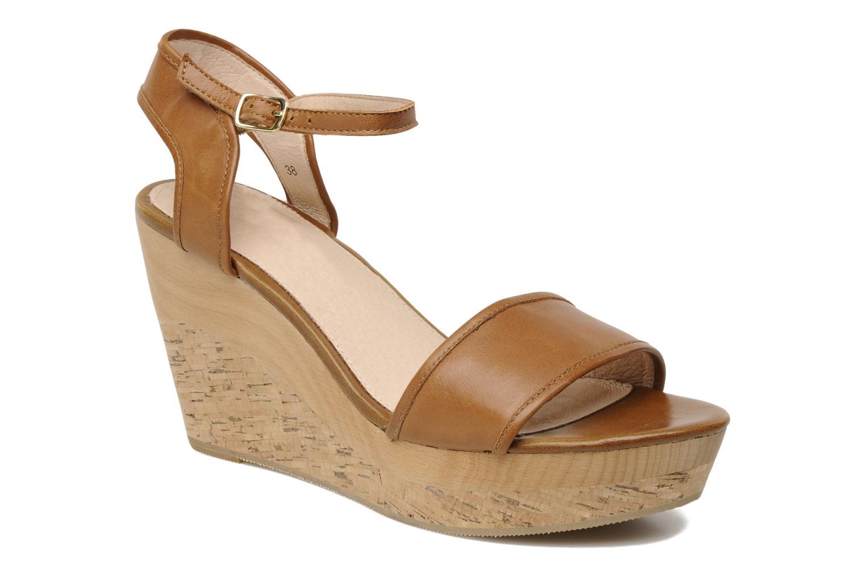 Sandales et nu-pieds Mellow Yellow Natanpa Marron vue détail/paire