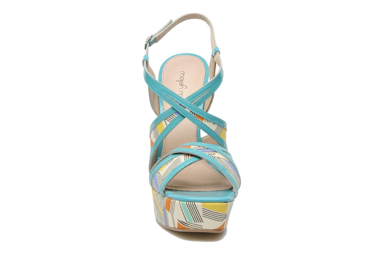 Sandales et nu-pieds Mellow Yellow Novela Bleu vue portées chaussures