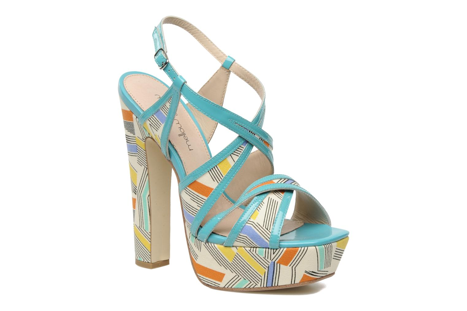 Sandals Mellow Yellow Novela Blue detailed view/ Pair view