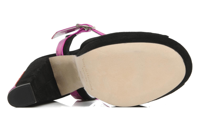 Sandales et nu-pieds Terry de Havilland MAREVNA Noir vue haut