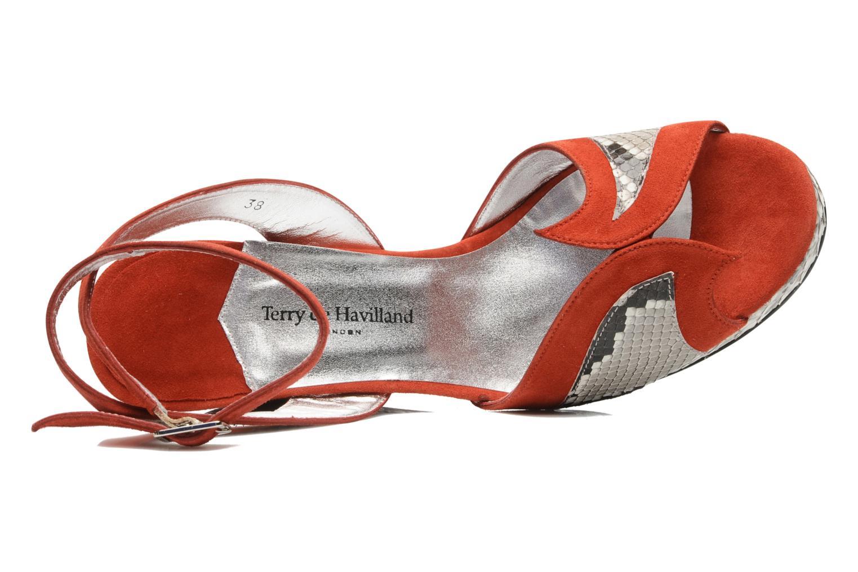 Sandalen Terry de Havilland SIMA 4 TIER rot ansicht von links