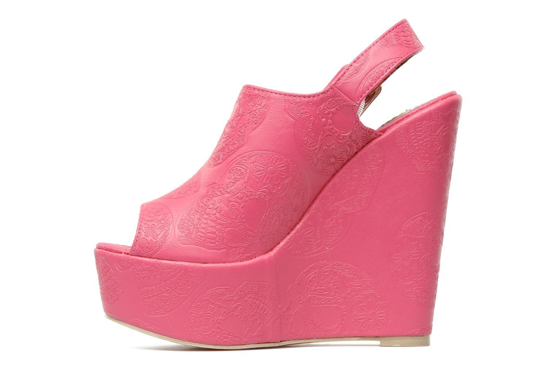 Sandaler Iron Fist MANSLAYER WEDGE Pink se forfra