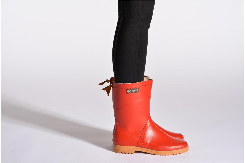Bottines et boots Aigle Bison Lady Violet vue bas / vue portée sac