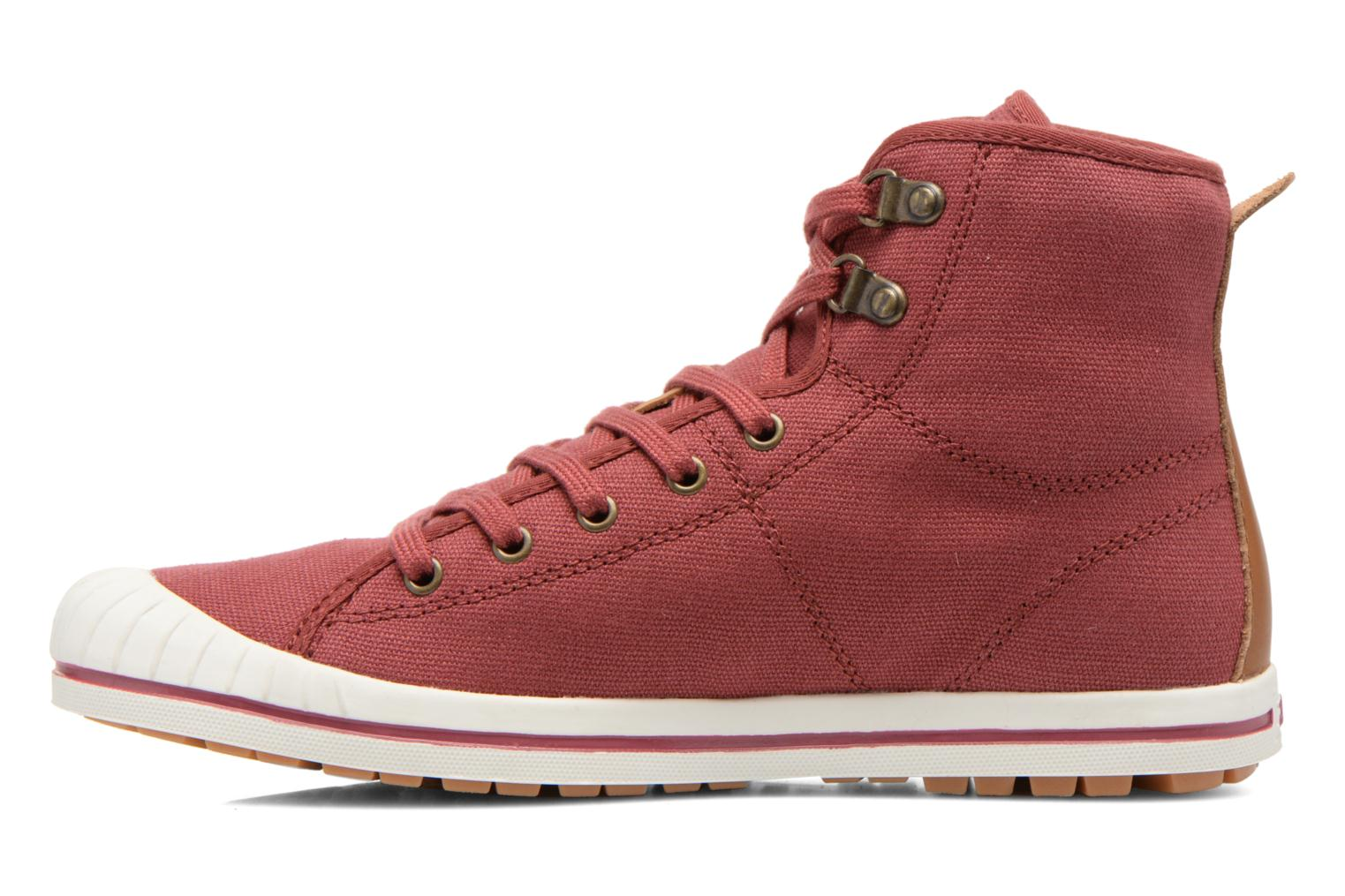 Lace-up shoes Aigle Kitangiri Mid W Burgundy front view