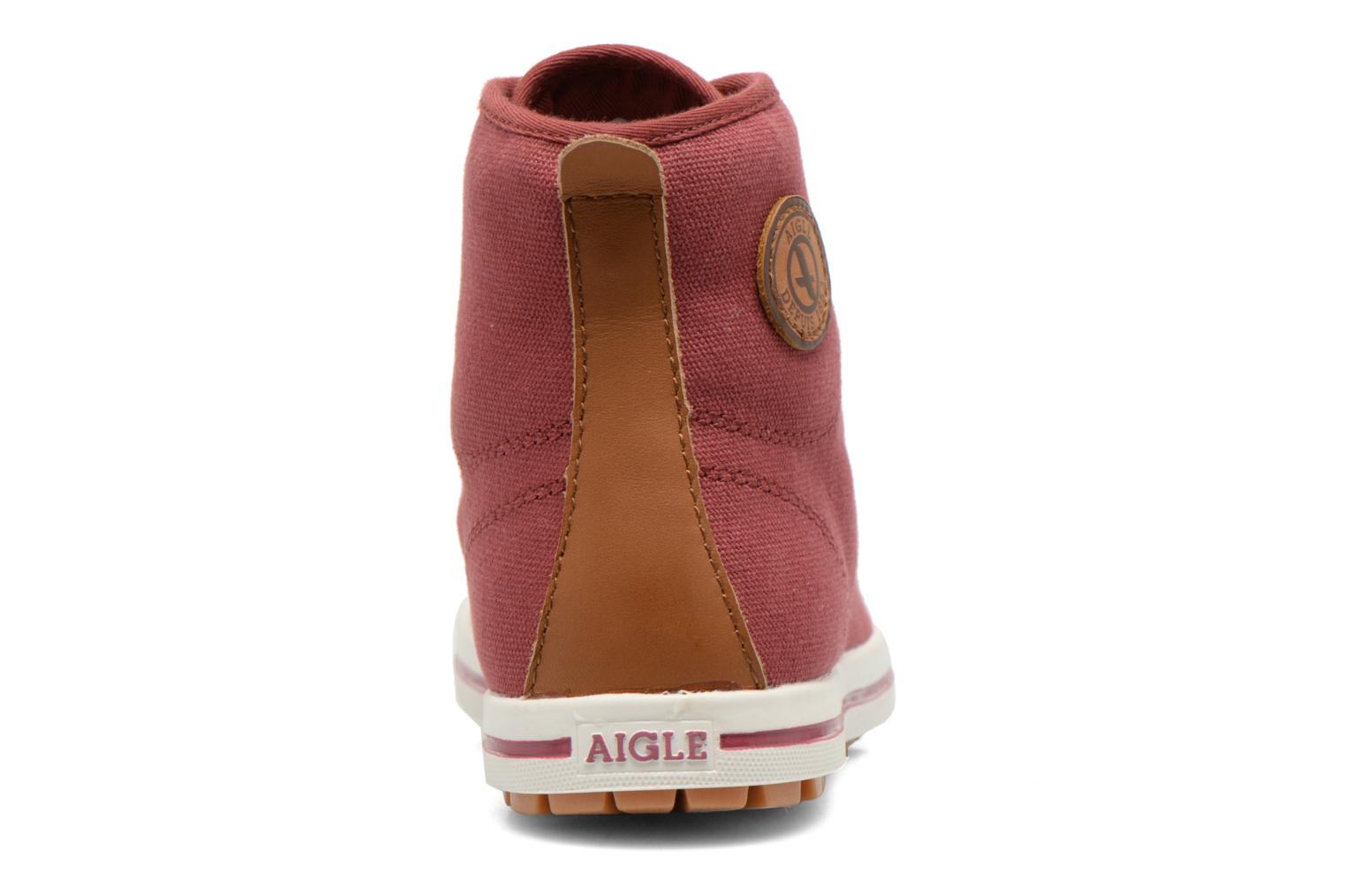Lace-up shoes Aigle Kitangiri Mid W Burgundy view from the right