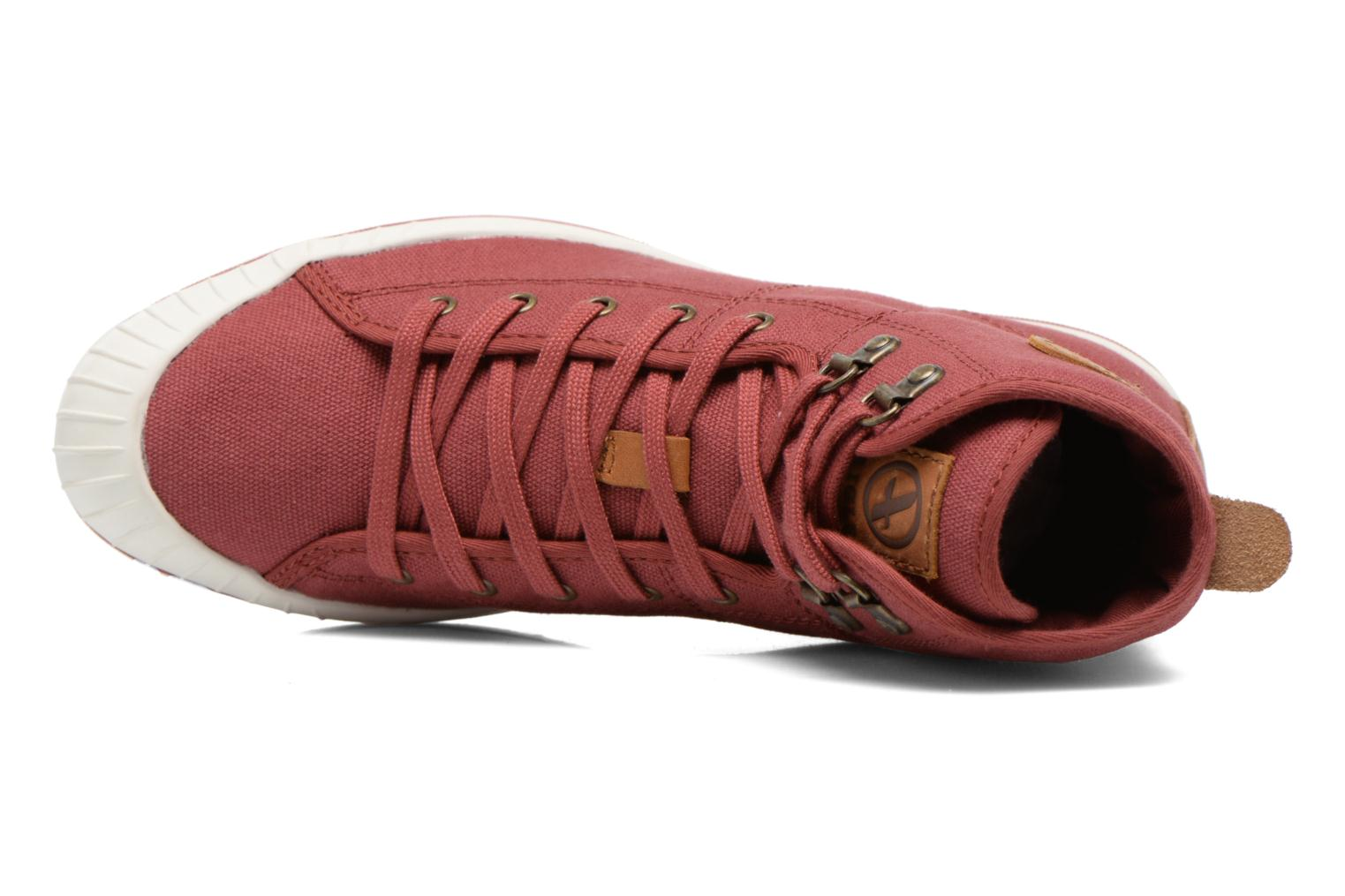 Lace-up shoes Aigle Kitangiri Mid W Burgundy view from the left
