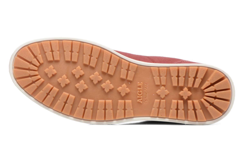 Chaussures à lacets Aigle Kitangiri Mid W Bordeaux vue haut