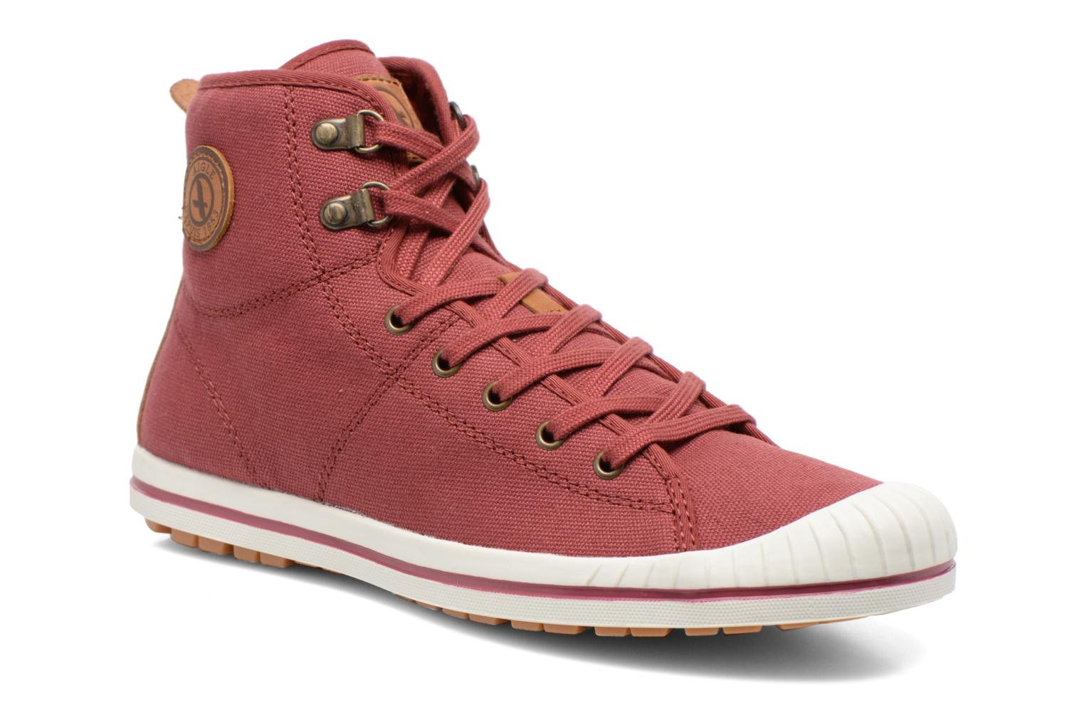 Lace-up shoes Aigle Kitangiri Mid W Burgundy detailed view/ Pair view