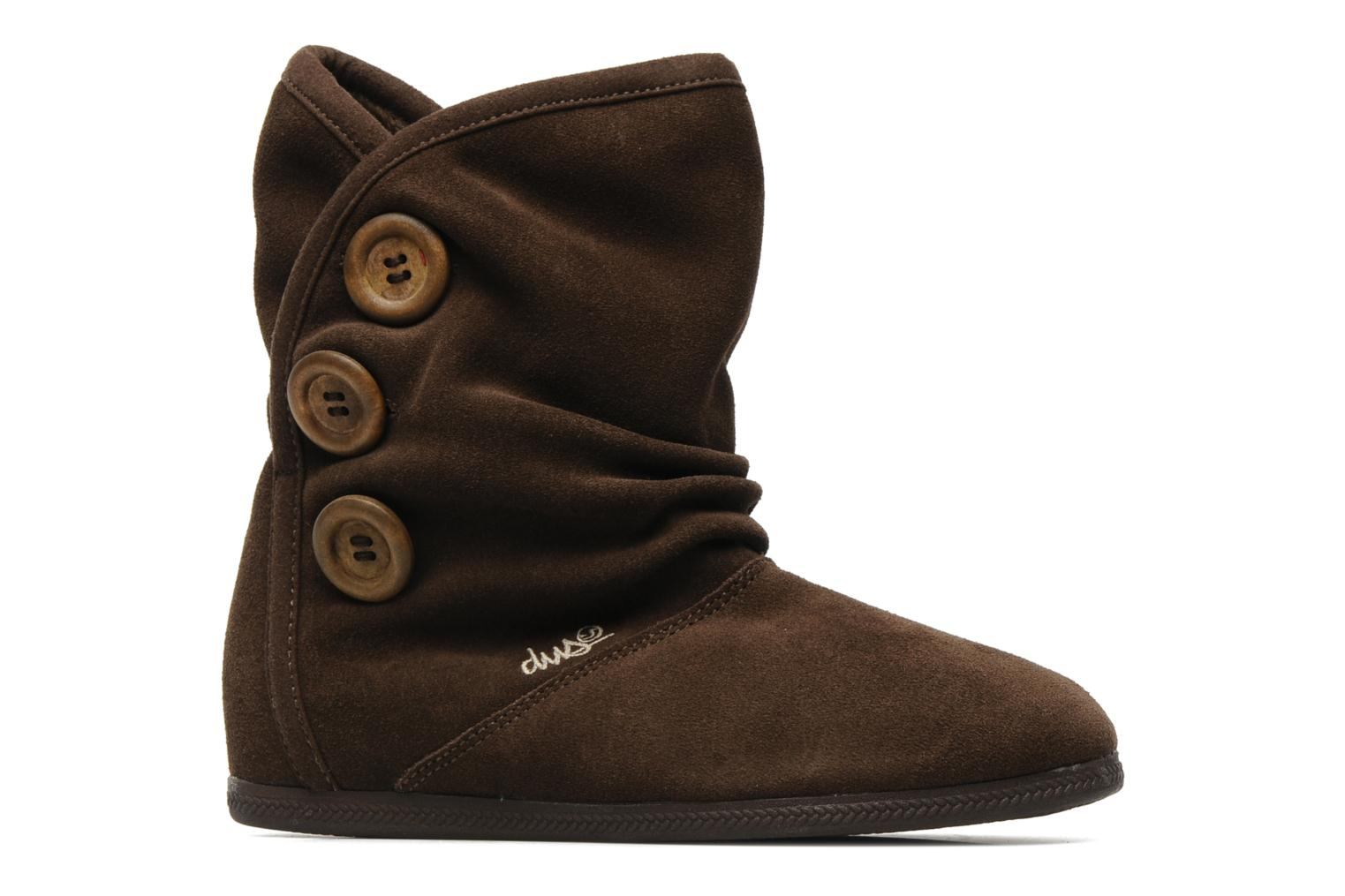 Shiloh Button Brown Suede