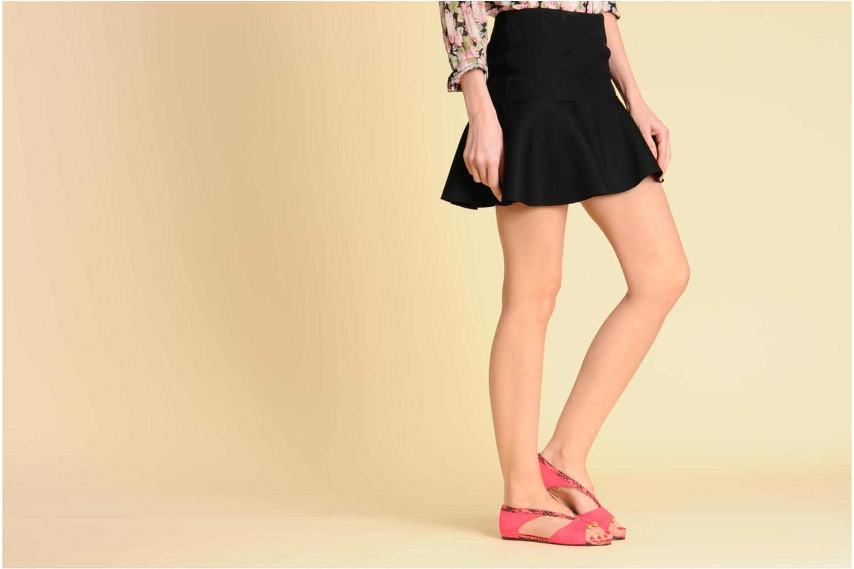 Sandales et nu-pieds MySuelly Romane Noir vue bas / vue portée sac