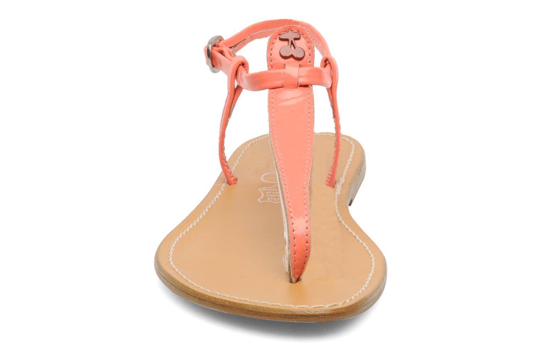 Sandales et nu-pieds Le temps des cerises Chloe Orange vue portées chaussures