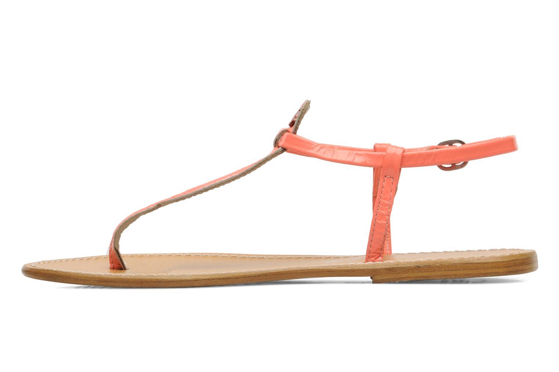 Sandales et nu-pieds Le temps des cerises Chloe Orange vue face