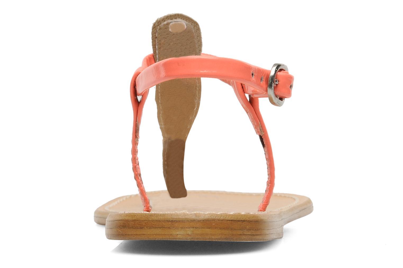 Sandales et nu-pieds Le temps des cerises Chloe Orange vue droite