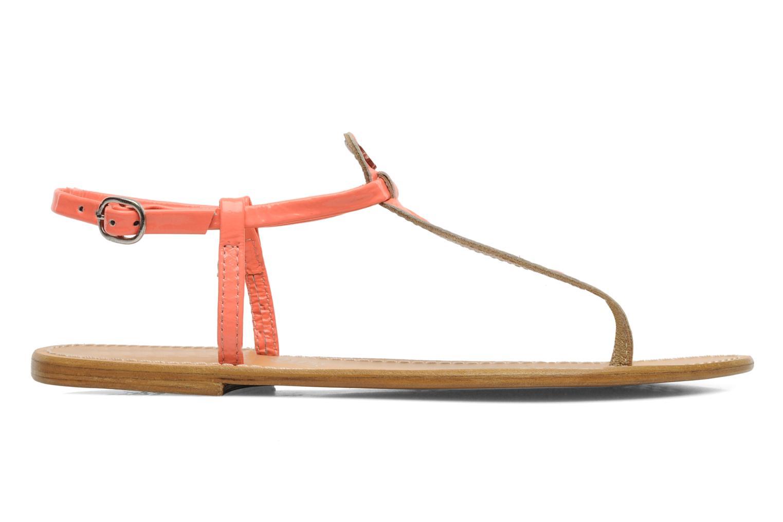 Sandales et nu-pieds Le temps des cerises Chloe Orange vue derrière