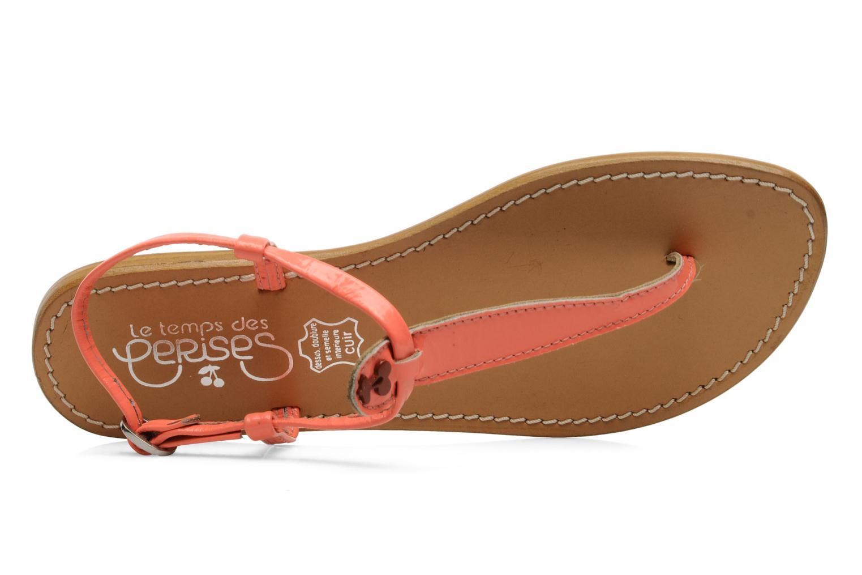 Sandales et nu-pieds Le temps des cerises Chloe Orange vue gauche