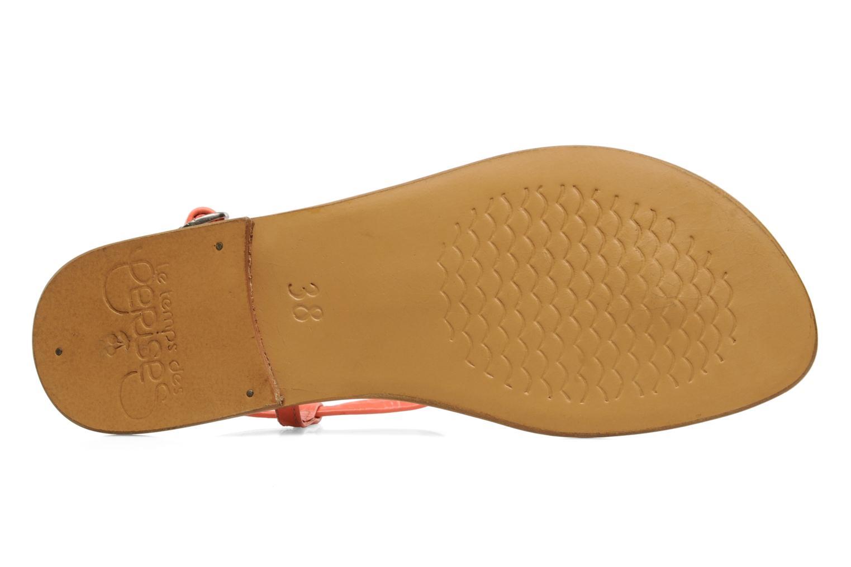 Sandales et nu-pieds Le temps des cerises Chloe Orange vue haut