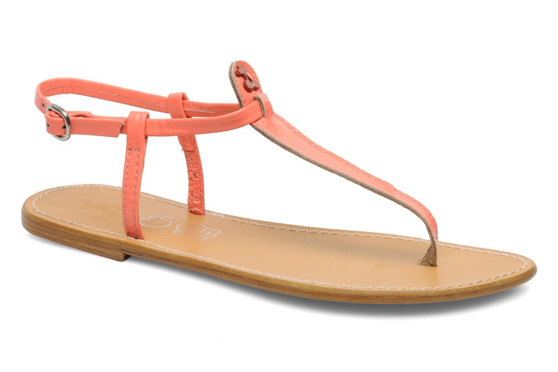 Sandales et nu-pieds Le temps des cerises Chloe Orange vue détail/paire