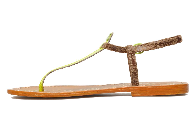 Sandales et nu-pieds Le temps des cerises Chloe Jaune vue face