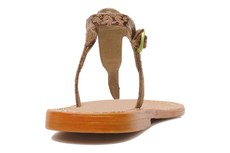 Sandales et nu-pieds Le temps des cerises Chloe Jaune vue droite