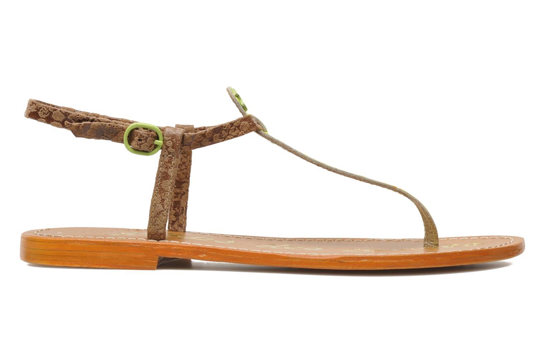 Sandales et nu-pieds Le temps des cerises Chloe Jaune vue derrière