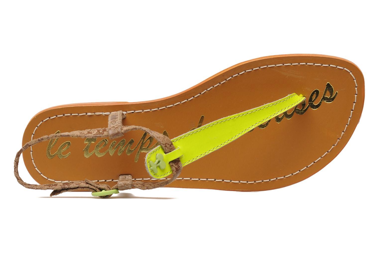 Sandales et nu-pieds Le temps des cerises Chloe Jaune vue gauche