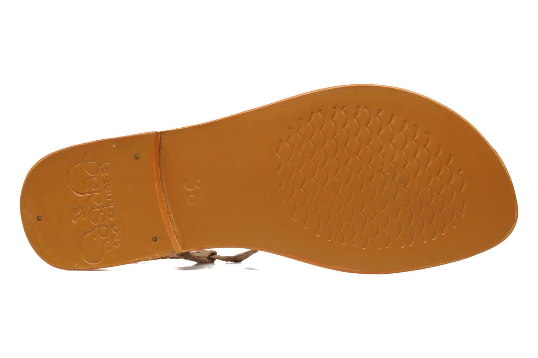 Sandales et nu-pieds Le temps des cerises Chloe Jaune vue haut