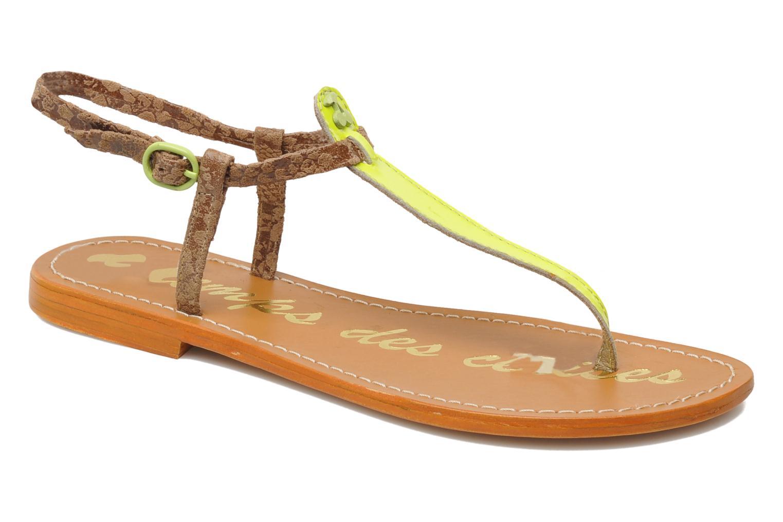 Sandales et nu-pieds Le temps des cerises Chloe Jaune vue détail/paire