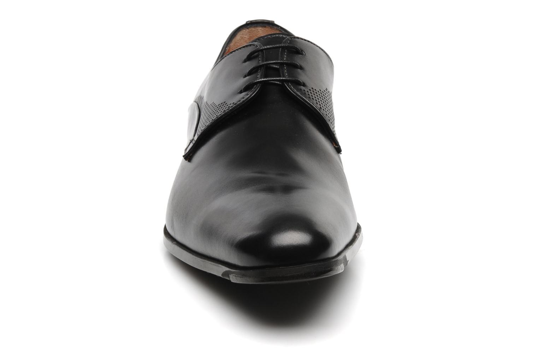 Schnürschuhe Santoni William 11268 schwarz schuhe getragen