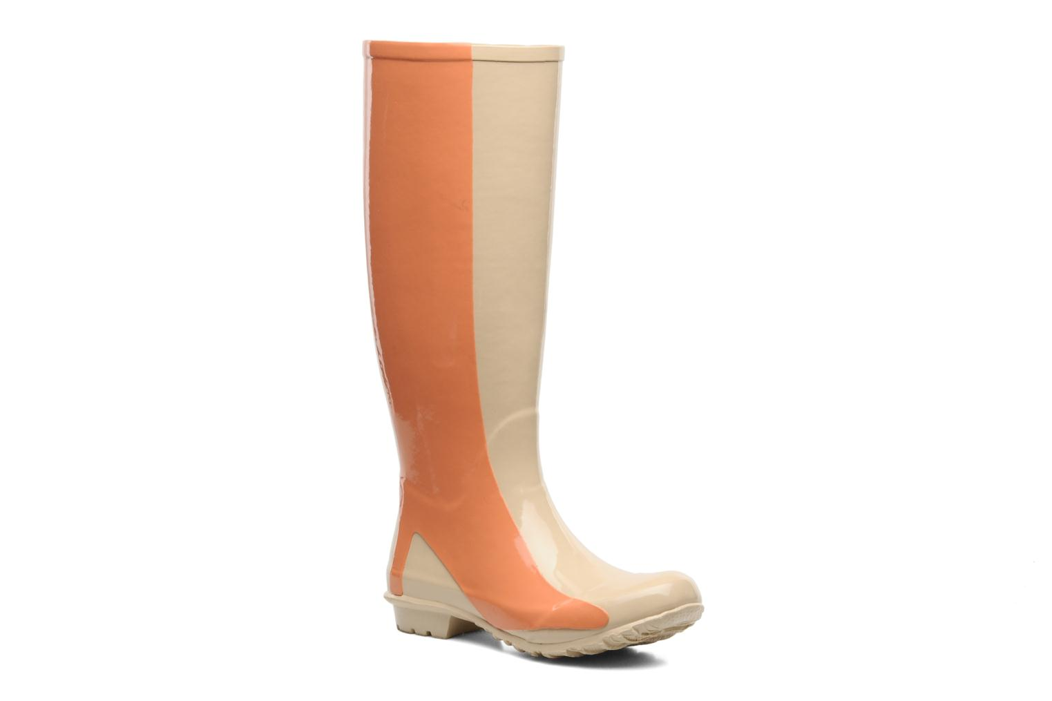 Bottes Be&D Singing in the rainboots Beige vue détail/paire