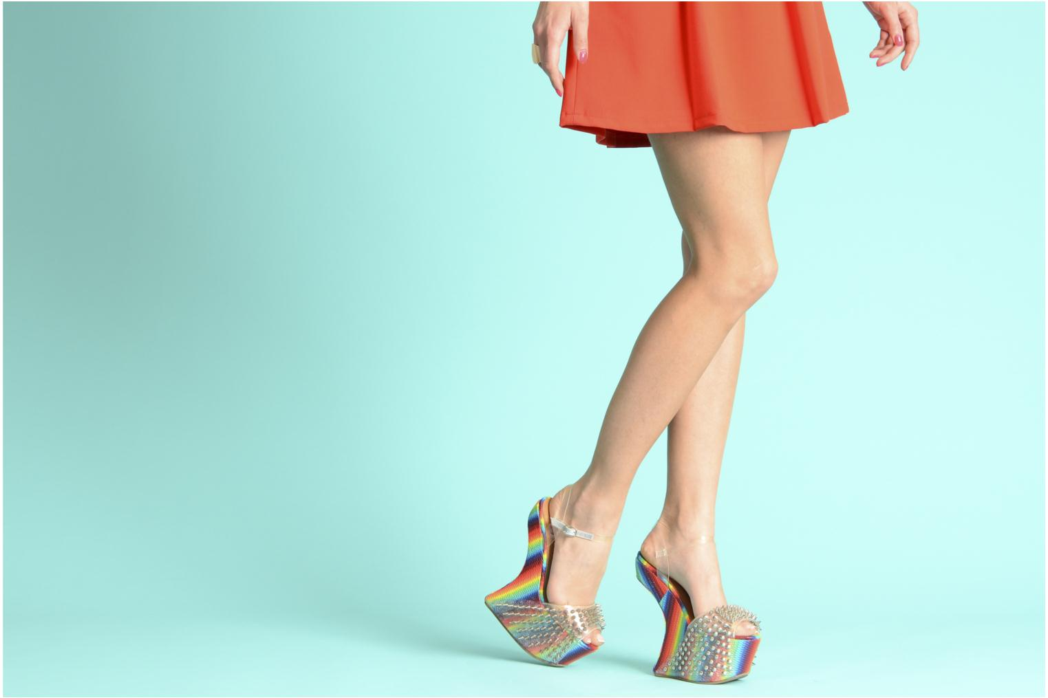 Sandals Jeffrey Campbell Vicious Multicolor view from underneath / model view