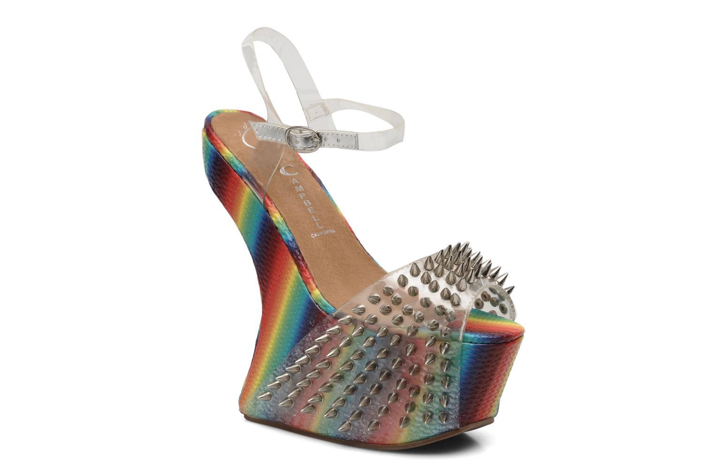 Sandales et nu-pieds Jeffrey Campbell Vicious Multicolore vue détail/paire