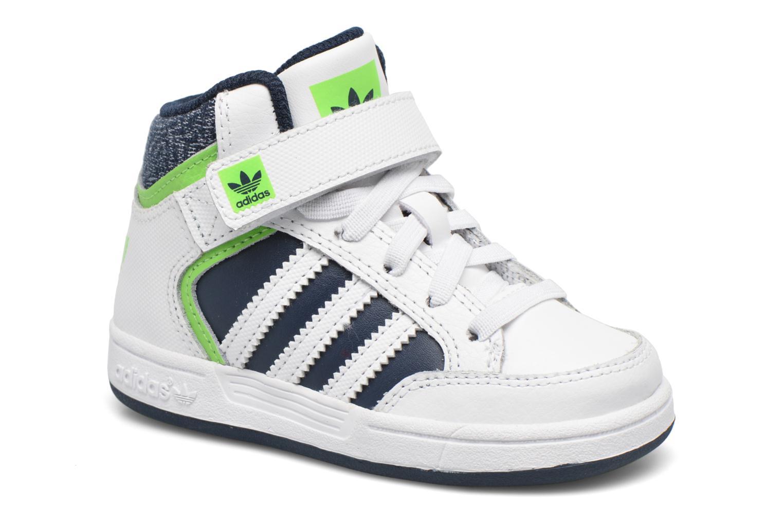 Baskets Adidas Originals Varial Mid I Blanc vue détail/paire