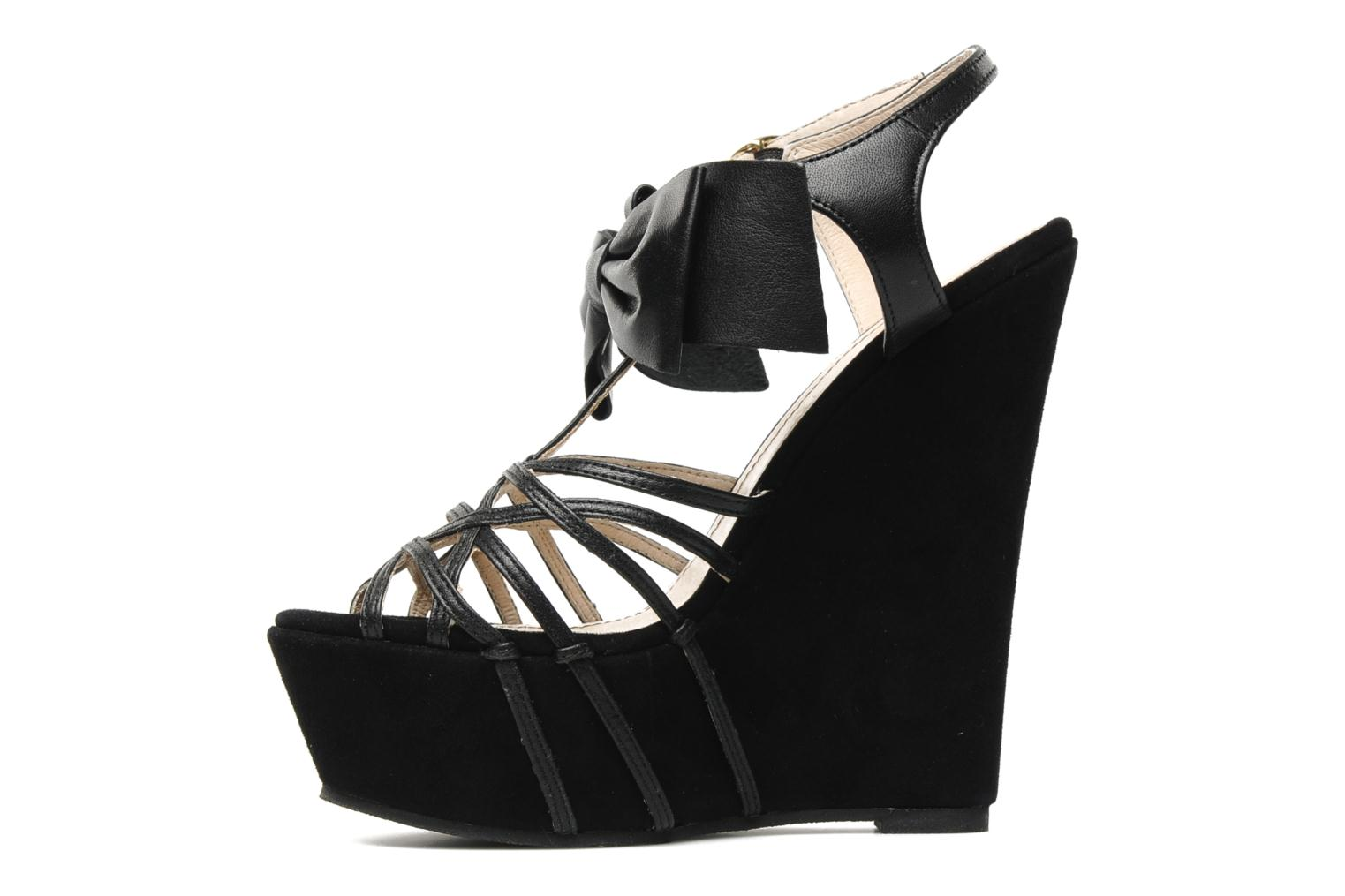 Sandals Supertrash Bowstrap Black front view