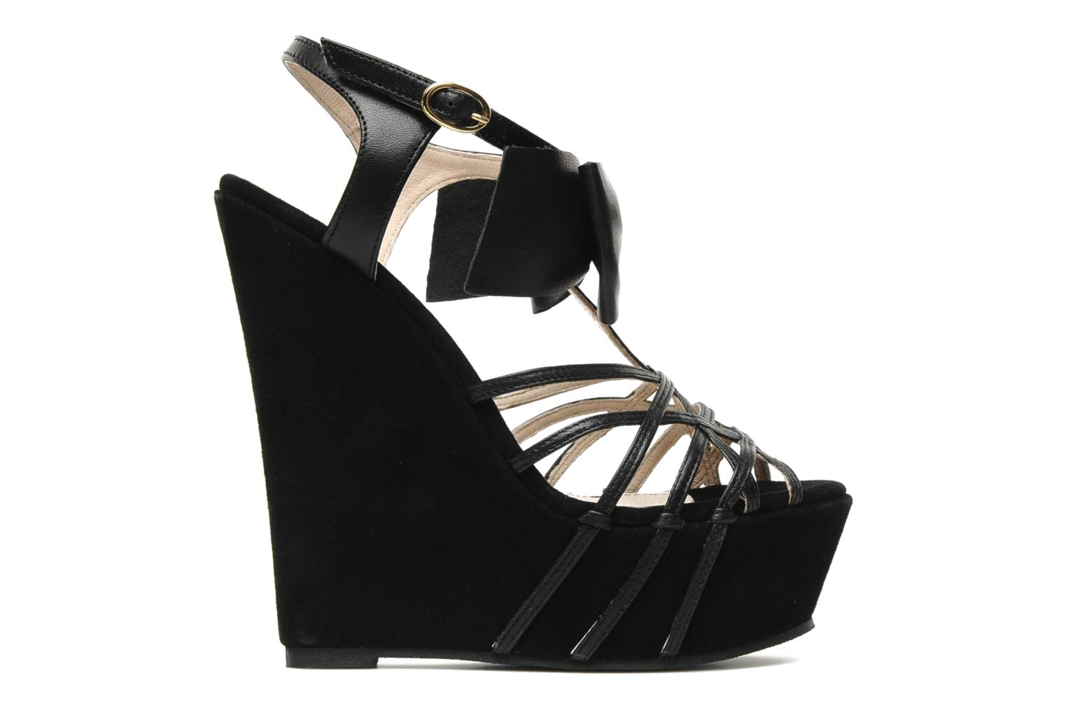 Sandals Supertrash Bowstrap Black back view