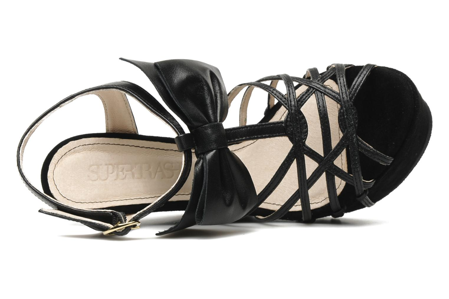 Sandals Supertrash Bowstrap Black view from the left