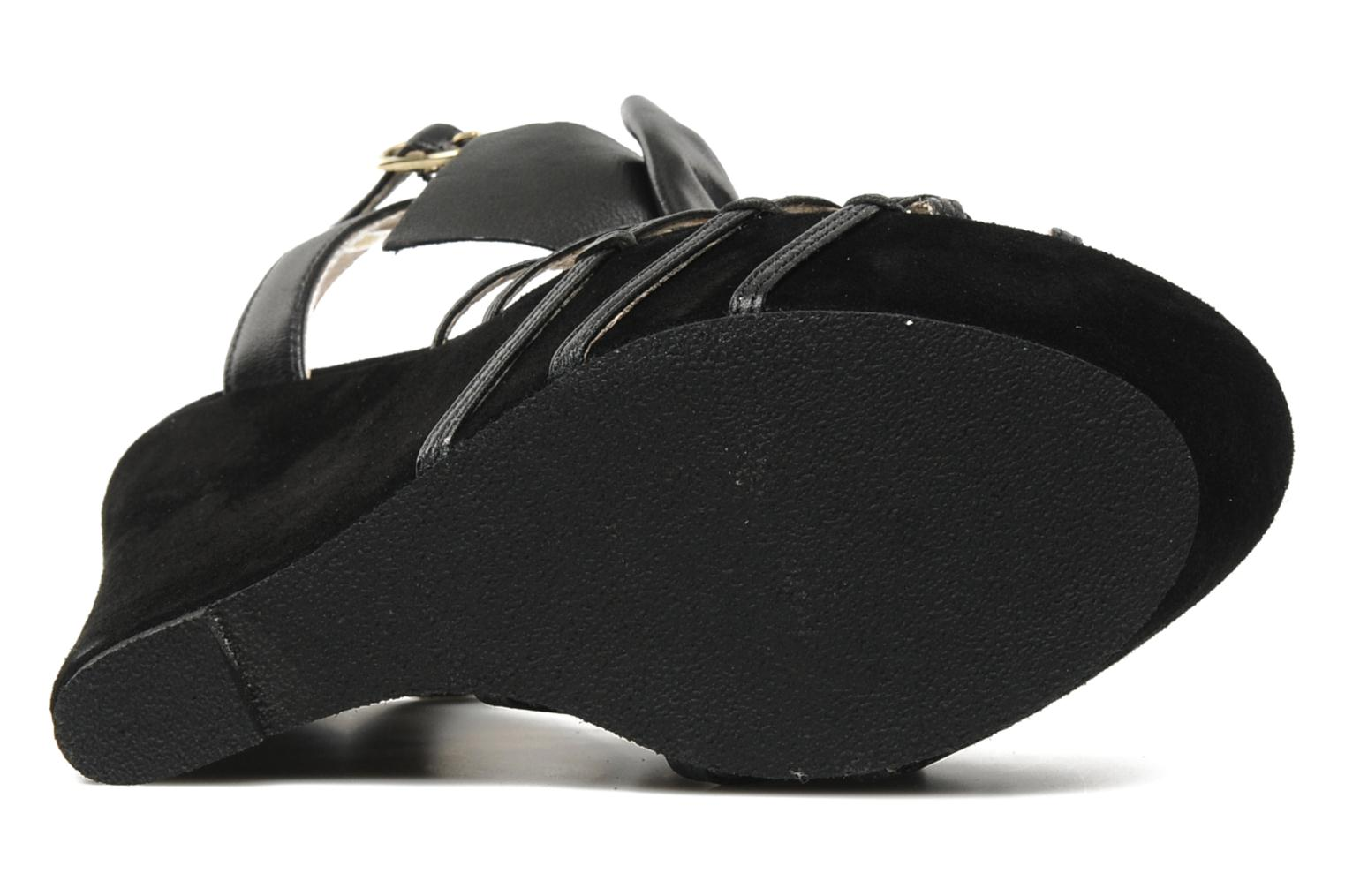 Sandals Supertrash Bowstrap Black view from above