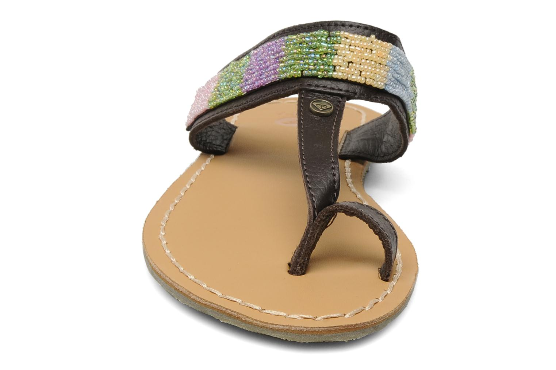 Mules et sabots Roxy Mumbai Marron vue portées chaussures