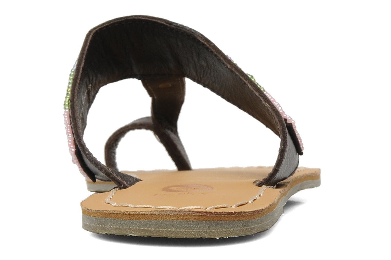 Mules et sabots Roxy Mumbai Marron vue droite